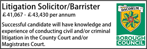 Dacorum Oct 20 Litigation Lawyer