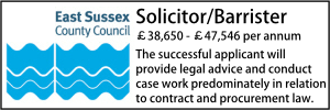 East Sussex Jan 20 Solicitor Contracts