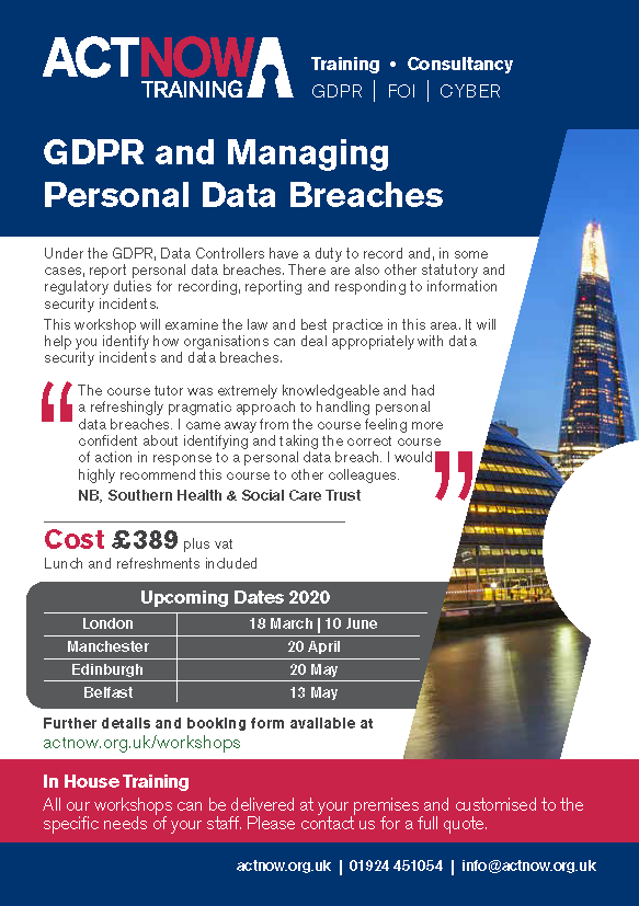 GDPr Handling Personal Data Breaches Page 1
