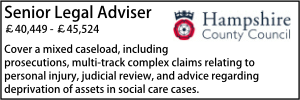 Hampshire Feb 20 Legal Adviser