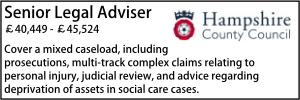 Hampshire Feb 20 Legal Adviser