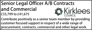 Kirklees May 20 Senior Legal Officer AB Contracts