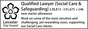 Leicester May 20 Qualified Lawyer Childrens