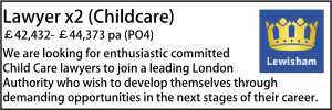Lewisham Aug 20 Childcare Lawyer