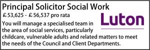 Luton Sept 20 Principal Solicitor Social Services