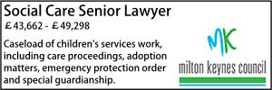 Milton Keynes Feb 20 Social Lawyer Senior