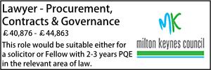 Milton Keynes oct 21 Lawyer procurement