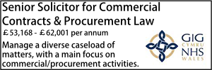 NHS Wales Aug 20 Senior Lawyer Contracts