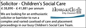 Newcastle Oct 20 Solicitor Childrens