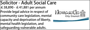 Newcastle Oct 21 Solicitor - Adult Social Care