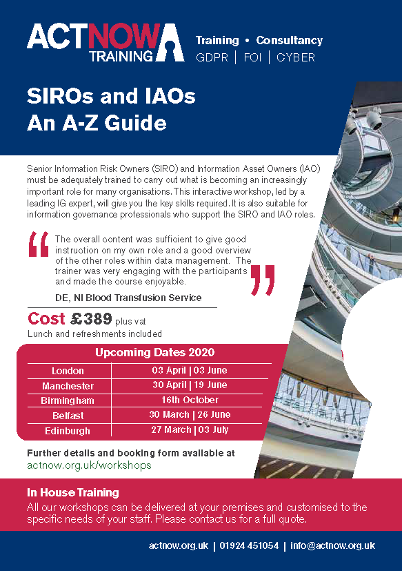 SIROs and IAOs An A Z Guide Page 1
