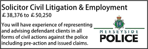 Solicitor Litigation and Employment Merseyside Oct 21