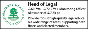 Surrey Heath Nov 19 Head of Legal