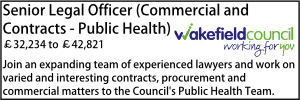 Wakefield Oct 20 Senior Legal Contract Public Health