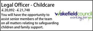 Wakefield Legal officer childcare Oct 21