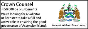 Ascension Island Sept 21 Crown Counsel