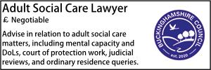 Bucks July 21 Adult Social Care Lawyer