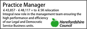 Herefordshire Practice Manager