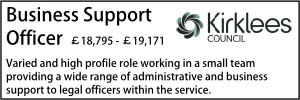Kirklees Business Support Officer