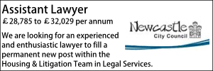 Newcastle March 21 Assistant Lawyer Litigation