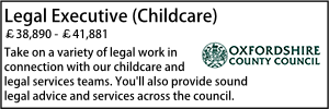 Oxfordshire Dec 20 Legal Exec Childcare