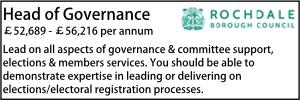 Rochdale Sept 21 Head of Governance