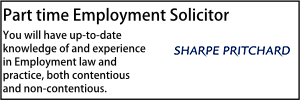 Sharpe Pritchard Part time Employment Solicitor Oct 21