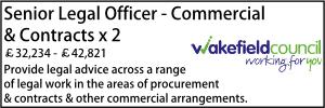 Wakefield Sept 21 Senior Legal Commercial