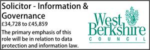 West Berkshire July 21 Solicitor - Information & Governance