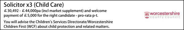 Worcestershire Lawyer Vacancies
