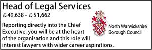 North Warwickshire Nov 19 Head of Legal