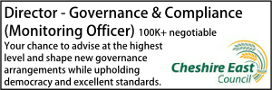 Cheshire East Council Director of Governance Vacancy