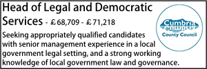 Cumbria June 20 Head of Legal