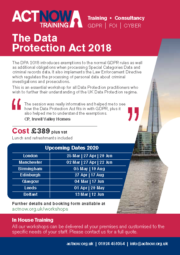 The Data Protection Act 2018 Page 1