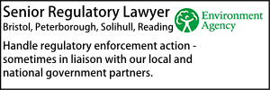 Environment Agency Feb 20 Senior Regulatory Lawyer