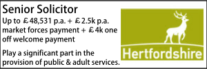 Hertfordshire Aug 20 Senior Solicitor