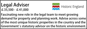 Historic England legal vacancy