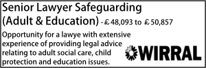 Wirral Aug 20 Senior Lawyer Adult