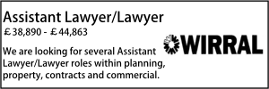 Wirral Nov Assistant Lawyer Planning