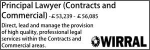 Wirral Nov 20 Principal Lawyer Contracts