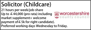Worcestershire Aug 20 Childcare